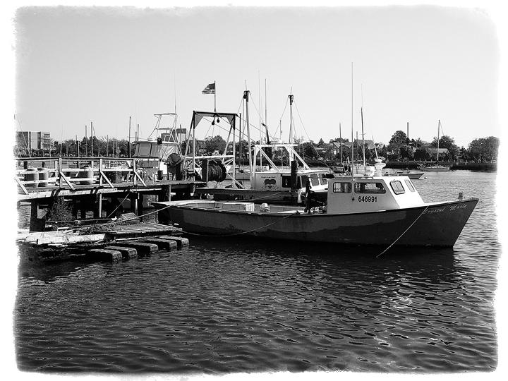 Artistic photography for Sheepshead bay fishing boats